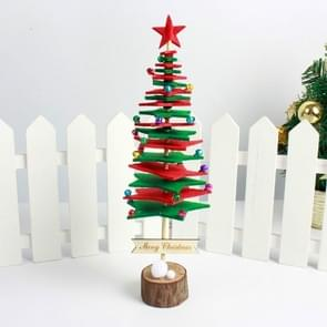 2 PCS Christmas DIY Non-woven Christmas Tree desktop Decoration Supplies(Red Green)