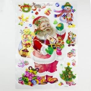 Christmas Decorations Creative Christmas Lights Window Stickers Christmas Color Stickers Door Window Decorations(Santa Claus )