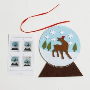 CP0108 2 PC'S kerstboom decoraties kerst handschoenen sokken handgemaakte DIY Coasters creatieve Kinder puzzel ornamenten (bal)