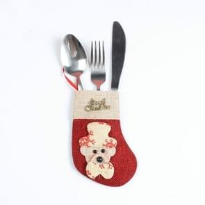 2 stks kerst tafel decoraties kerst bestek sets (kerst Bear)