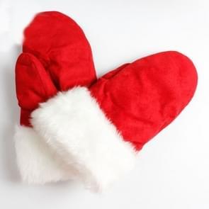 Kerst fleece Pack verwijst dubbellaags warme gewatteerde handschoenen