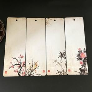 Elegant Pattern Paper Bookmark School Stationery Exquisite Small Gift(Plum Orchid Bamboo Chrysanthemum )