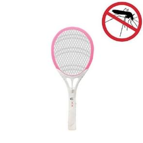 Household High-power Rechargeable Electric Mosquito Swatter  Style:Lithium Battery USB Plug(Pink White)