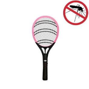 Household High-power Rechargeable Electric Mosquito Swatter  Style:Lithium Battery USB Plug(Pink Black)