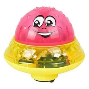 Red with Base Baby Bathroom Play Water Bath Toy Children Electric Induction Sprinkler Ball with Light & Music