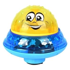 Yellow with Base Baby Bathroom Play Water Bath Toy Children Electric Induction Sprinkler Ball with Light & Music