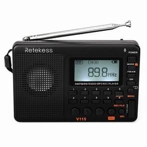 Retekess V-115 Full Band Radio FM AM Portable MP3 Player(Black)