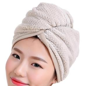Womens Magic Quick Dry Bath Hair Drying Towel Cap Bathing Tool(Khaki)