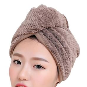 Womens Magic Quick Dry Bath Hair Drying Towel Cap Bathing Tool(Brown)