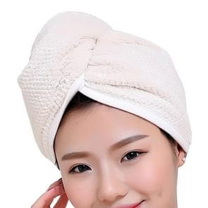 Womens Magic Quick Dry Bath Hair Drying Towel Cap Bathing Tool(Creamy White)