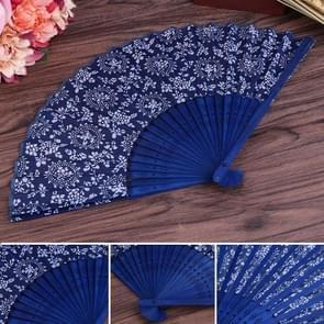 2 PCS 6 inch Women Single-sided Bamboo Fan Fabric Fan Featuring Craft Fan, Random Pattern Delivery