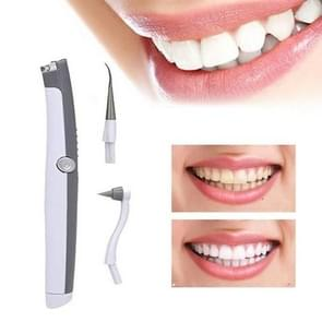 2 PCS Electric Calculus Cleaner Polishing Sonic Tooth Cleaning Vibration Tooth Cleaning Instrument(White)