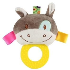 Infant Hand Gripping Gum Rattle Plush Toy, Color: Donkey