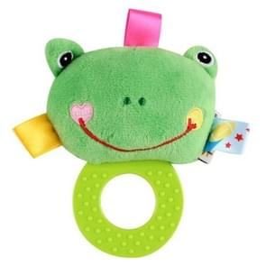 Infant Hand Gripping Gum Rattle Plush Toy, Color: Frog