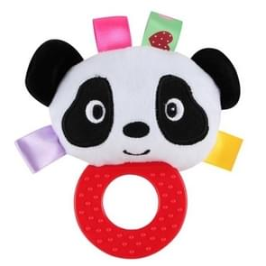 Infant Hand Gripping Gum Rattle Plush Toy, Color: Panda