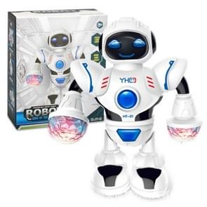 Electric Hyun Dance Robot LED Light Music Children's Educational Toys(White)