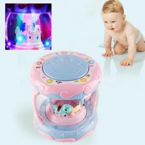 Children Touch Multi-function Hand Drum Music Early Education Intelligence Toys with Lights(Purple)