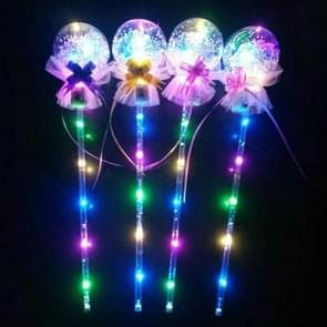 20 PCS Color Flash Wave Ball Electric Children's Toys Flash Stick LED Ball Party Concert Supplies, Specification:Pull Flower Magic Wand