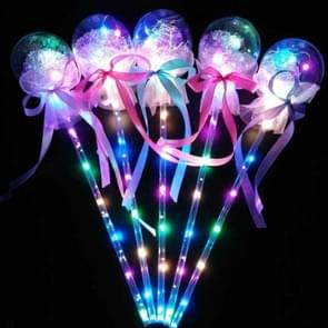 20 PCS Color Flash Wave Ball Electric Children's Toys Flash Stick LED Ball Party Concert Supplies, Specification:Ribbon Bow Magic Wand