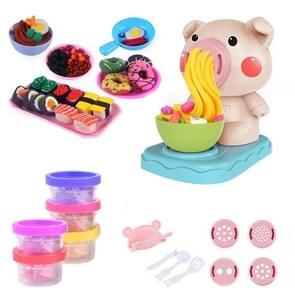 Kinderen keuken speelgoed set DIY noedels machine speelgoed Clay deeg plasticine Ice Cream machine Mould Play Kit  willekeurige kleur levering (5 kleuren)