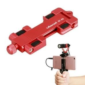 Ulanzi ST-03 Folding Mobile Phone Metal Clip Live Selfie Photography Multi-function Bracket(Red)