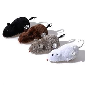 Simulation Mouse Clockwork Plush Animal Educational Toys, Random Color Delivery