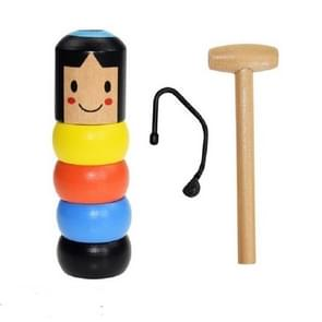Small Wooden Man Wooden Puppet Decompression Toy