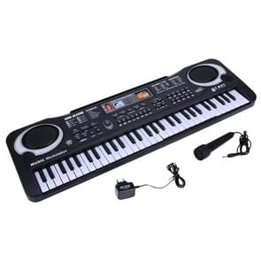 MQ-6106 61-key Multi-function Children Simulation Electronic Piano Children Intelligence Music Toys, EU Plug(Black)