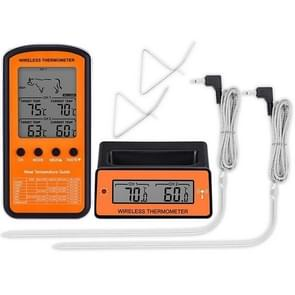 Draadloze Remote BBQ Thermometer Dual Probe Digital Cooking Meat Food Oven Thermometer