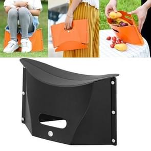 Outdoor picknick draagbare multi-functionele creatieve kunststof vouwen kruk stoel (zwart)