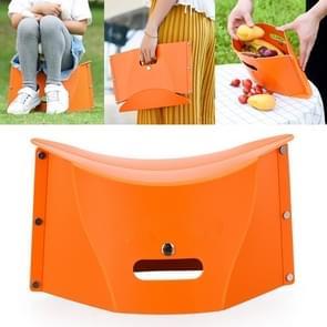Outdoor Picnic Portable Multi-functional Creative Plastic Folding Stool Chair(Orange)