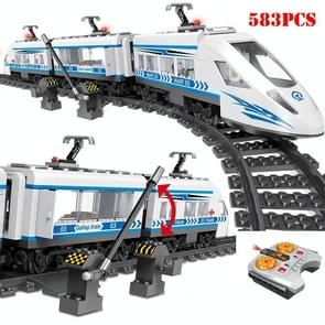 High-speed Rail Train Locomotive with Remote Control Electric Simulation Toy Children's Puzzle Assembled Building Blocks Toys