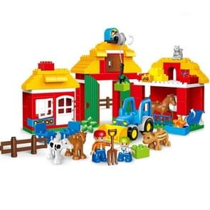 Large Particle Wood Puzzle Assembled Animal Farm Scene Building Blocks Children Early Education Toys