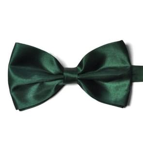 2 PCS Children Polyester Silk Smooth Twill Fabric Adjustable Buckle Bow Tie(Green)