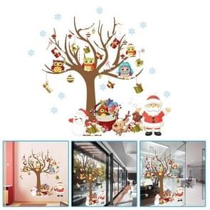 Christmas Tree Santa Claus Children Room Bedroom Living Room Wall Sticker