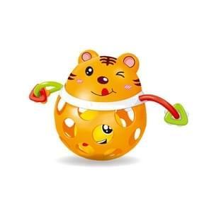 Baby Animal Soft Plastic Can Bite Hand Toy Baby Educational Toys(Tiger)