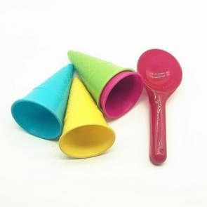 10 PCS 5 in 1 Children Beach Toy Ice Cream Mold Spoon Set