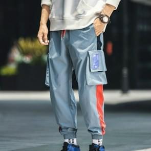 Harem broek mannen casual hip hop jogger broek mode zweet broek losse track mannen broek  grootte: 2XL (blauw)