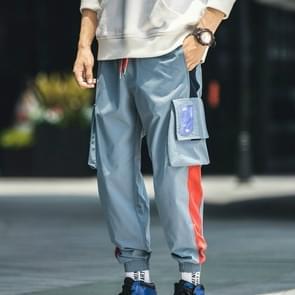 Harem broek mannen casual hip hop jogger broek mode zweet broek losse track mannen broek  grootte: 4XL (blauw)