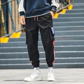 Harem broek mannen casual hip hop jogger broek mode zweet broek losse track mannen broek  grootte: 5XL (zwart)