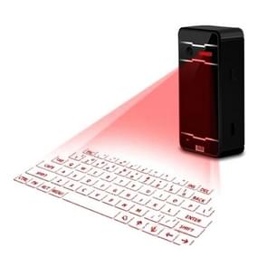 JHP-Best Portable Virtual Lasers Keyboard Mouse Wireless Bluetooth Lasers Projection Speaker(Black)