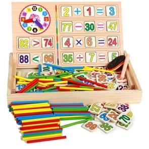 Vroege kindertijd onderwijs houten multi-functionele digitale operatie vak digitale stick baby leren Box desktop puzzel speelgoed (als show)