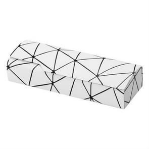 Lattice patroon draagbare glazen doos (wit)