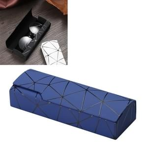Lattice Pattern Portable Glasses Box(Blue)
