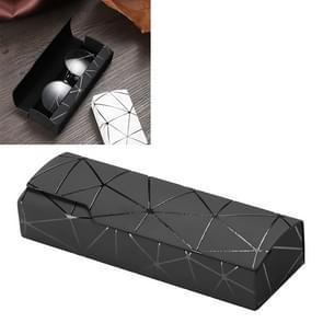 Lattice Pattern Portable Glasses Box(Black)