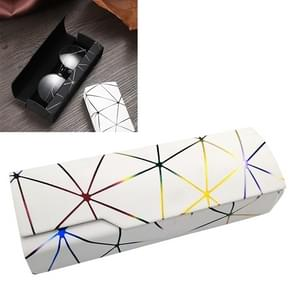 Lattice Pattern Portable Glasses Box(Dazzle White)