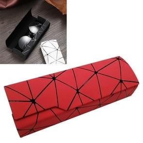Lattice Pattern Portable Glasses Box(Red)