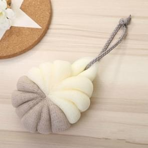 Portable Hanging Bath Flower Ball Soft Foaming Shower Massage Ball Body Exfoliating Bath Brush(Coffee)