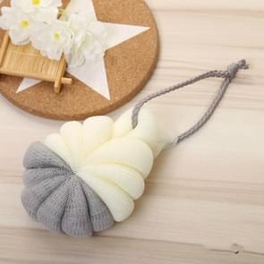Portable Hanging Bath Flower Ball Soft Foaming Shower Massage Ball Body Exfoliating Bath Brush(Gray)