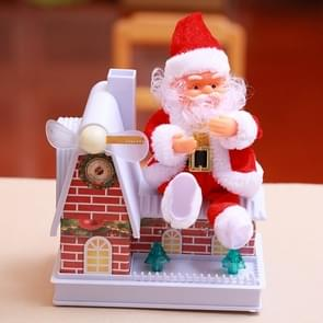 Christmas Toy Electric Santa Claus Glowing Windmill House Toy